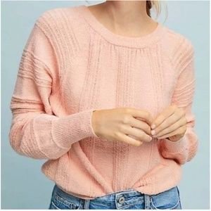 Anthropologie Boucle Sweater Pink (XL)